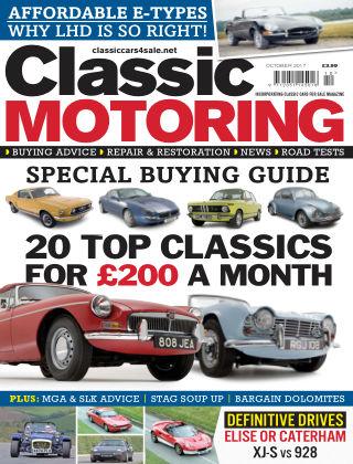 Classic Motoring October 2017