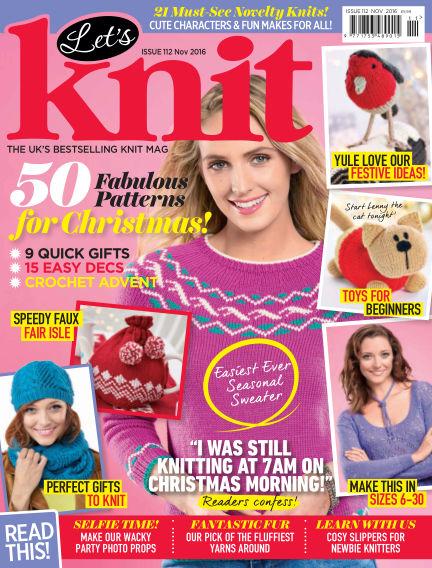 Let's Knit October 28, 2016 00:00