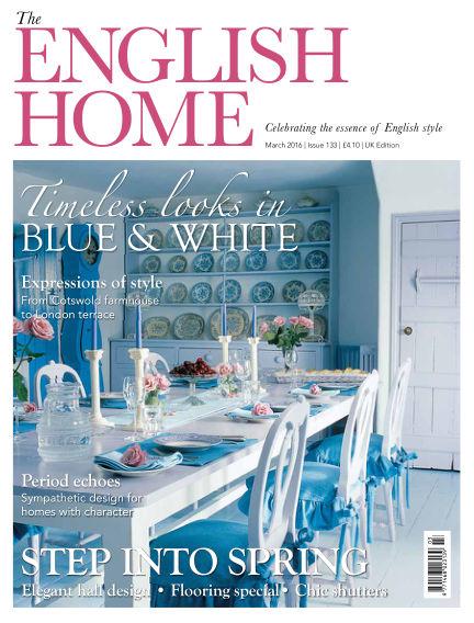 The English Home February 03, 2016 00:00