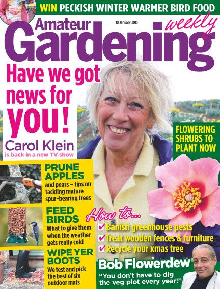 Amateur Gardening January 13, 2015 00:00