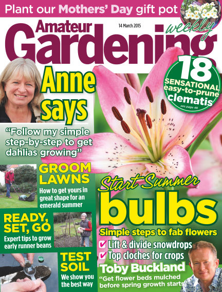 Amateur Gardening March 17, 2015 00:00