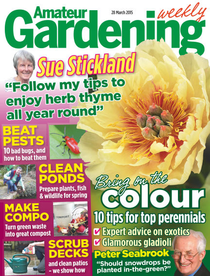 Amateur Gardening March 31, 2015 00:00