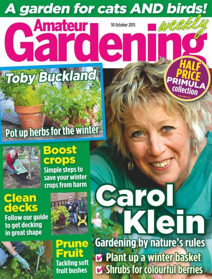 Amateur Gardening October 13, 2015 00:00