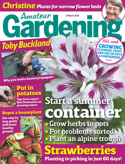 Amateur Gardening March 15, 2016 00:00