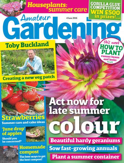 Amateur Gardening May 31, 2016 00:00