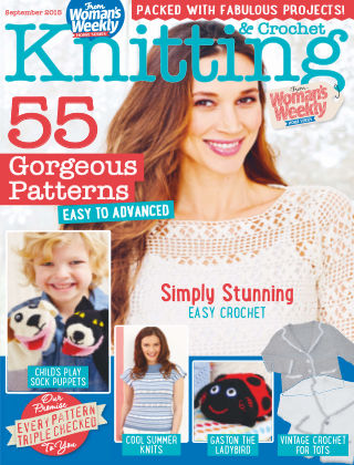 Woman's Weekly Knitting & Crochet Aug - Sept 2015