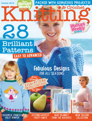 Woman's Weekly Knitting & Crochet October 2015