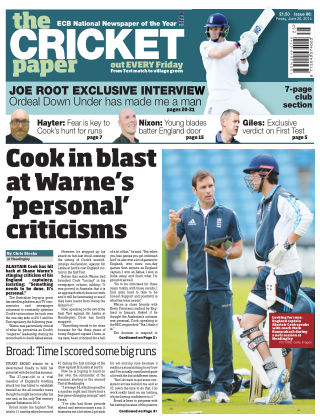 The Cricket Paper 20th June 2014