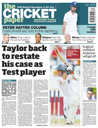 The Cricket Paper 25th July 2014