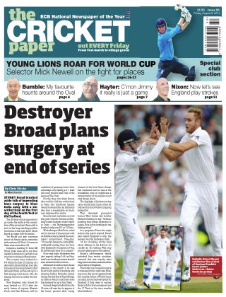 The Cricket Paper 8th August 2014