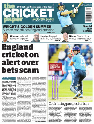The Cricket Paper 29th August 2014