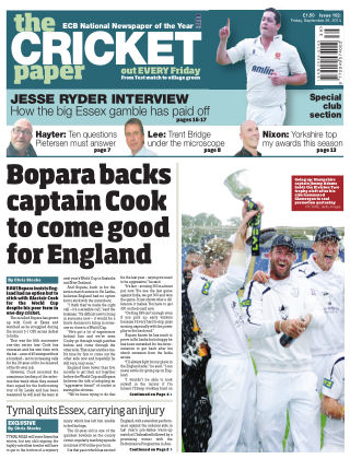 The Cricket Paper 26th September 2014