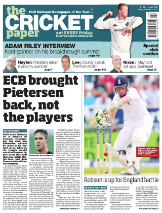 The Cricket Paper 3rd October 2014