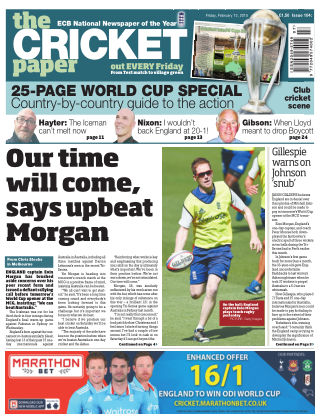 The Cricket Paper 13th February 2015