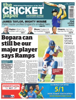 The Cricket Paper 20th February 2015