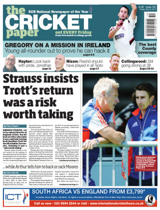 The Cricket Paper 8th May 2015