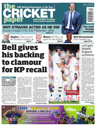 The Cricket Paper 15th May 2015