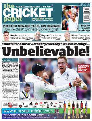 The Cricket Paper 7th August 2015