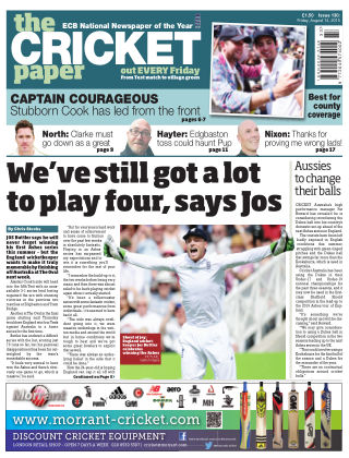 The Cricket Paper 14th August 2015