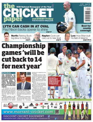 The Cricket Paper 21st August 2015