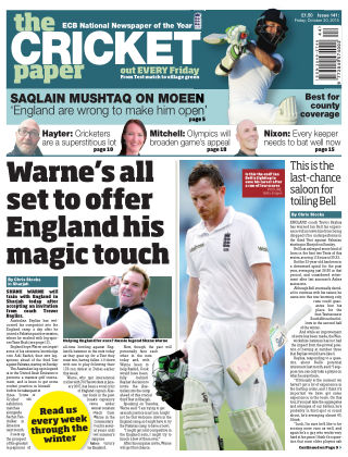 The Cricket Paper 30th October 2015
