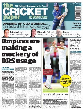 The Cricket Paper 4th December 2015
