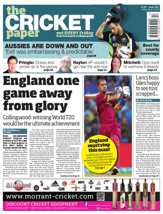 The Cricket Paper 1st April 2016