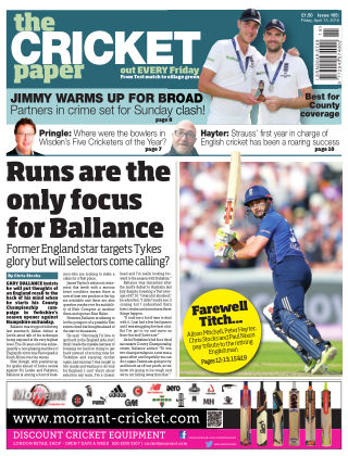 The Cricket Paper 15th April 2016