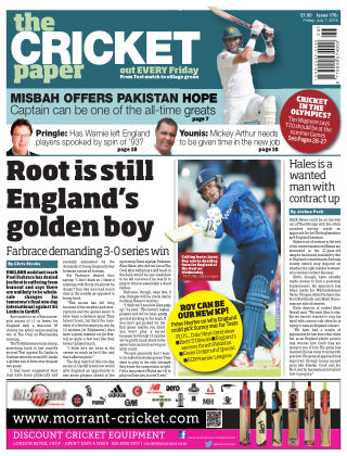 The Cricket Paper 1st July 2016