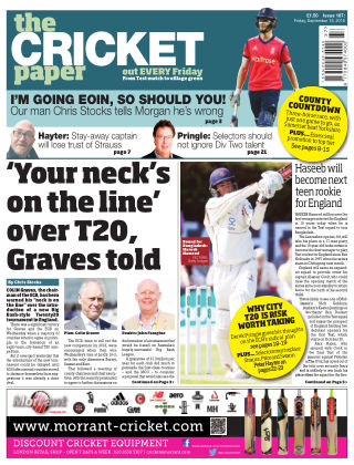 The Cricket Paper 16th September 2016