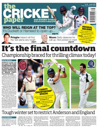 The Cricket Paper 23rd September 2016