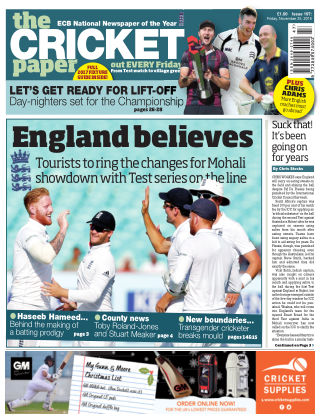 The Cricket Paper 25th November 2016