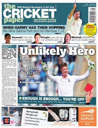 The Cricket Paper 9th December 2016