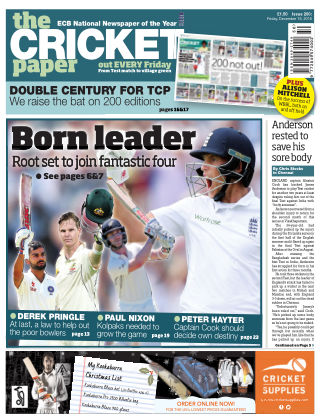 The Cricket Paper 16th December 2016