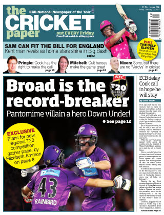 The Cricket Paper 13th January 2017