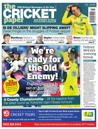 The Cricket Paper 9th June 2017