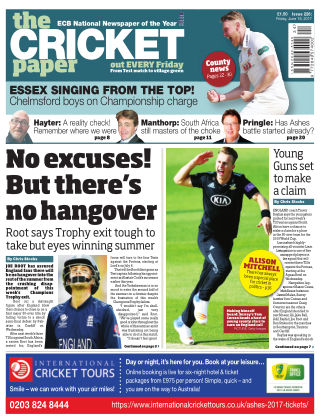 The Cricket Paper 16th June 2017