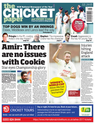 The Cricket Paper 23rd June 2017