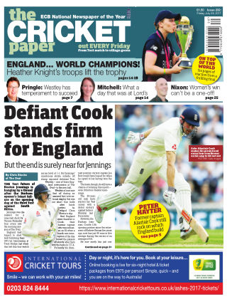 The Cricket Paper 28th July 2017