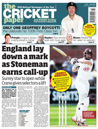 The Cricket Paper 11th August 2017