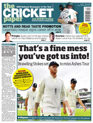 The Cricket Paper 29th September 2017