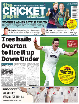 The Cricket Paper 20th October 2017