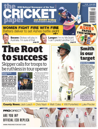 The Cricket Paper 3rd November 2017