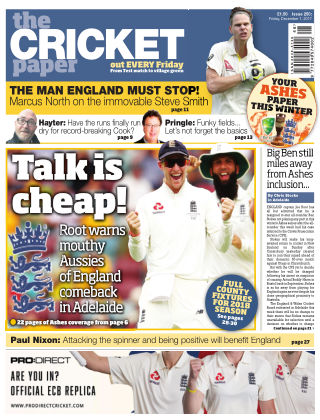 The Cricket Paper 1st December 2017