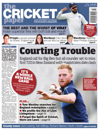 The Cricket Paper 19th January 2018