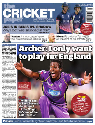 The Cricket Paper 2nd February 2018