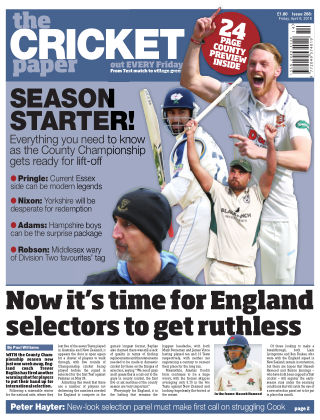 The Cricket Paper 6th April 2018