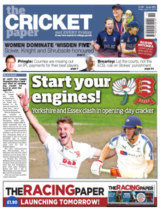 The Cricket Paper 13th April 2018