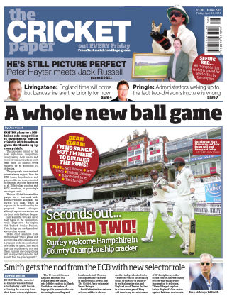 The Cricket Paper 20th April 2018