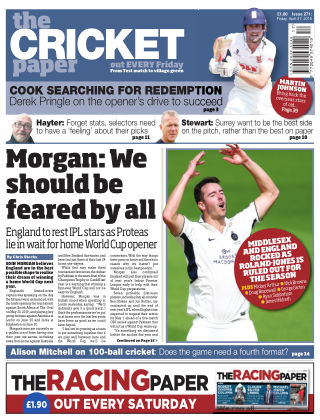 The Cricket Paper 27th April 2018